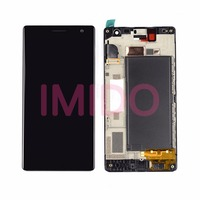 For Lumia 730 LCD Display Touch Screen Digitizer Assembly Frame Replacement Parts