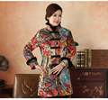 Winter Thicking Outerwear Traditional Chinese Style Women's Padded Jacket Long sleeve Coats Size S M L XL XXL XXXL Miw08