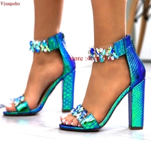 Platform Sandals Women Summer Sexy Transparent High Heels Crystal Glitter Shoes Thick Heel Sandals Stripper Ladies Wedding Shoes 2017 women high heel sandals sexy crystal transparent women shoes fish head high platform 14cm19cm shoes sandals buckle style