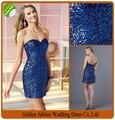 2016 New Arrival Sweetheart Sequined Cocktail Dress Mini 2016 Party Dress Sexy vestido de renda P07