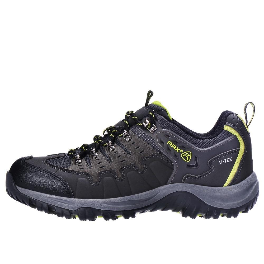 RAX Men Waterproof Leather Hiking Shoes Women Walking Trekking Mountaineering Hunting Shoes Non Slip Outdoor Sports
