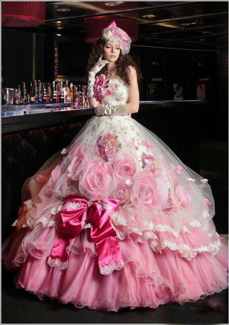 Vestido De 15 Anos barato elegante vestidos Quinceanera 2016 New Arrival Strapless Vestido De baile com grande arco e flor Prom Dress