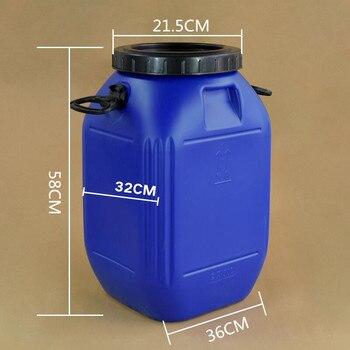 Vorratsbehälter Für Lebensmittel | 50L Große Kapazität Kunststoff Barrel Lebensmittel Grade Hdpe Kunststoff Verpackung Transport Behälter Haushalts Lagerung Eimer