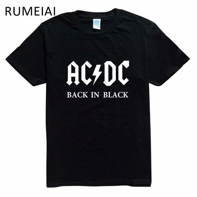 Новинка 2017 года Camisetas AC/DC рок-группы Футболка мужская ACDC Graphic футболки принтом Повседневная футболка с круглым вырезом в стиле «хип-хоп» короткий рукав хлопковый топ