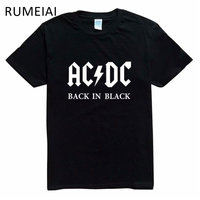 2016 New Camisetas AC DC Band Rock T Shirt Mens Acdc Graphic T Shirts Print Casual