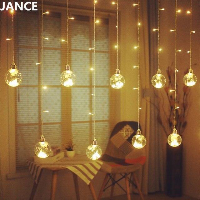 LED Glas Anhänger Lampe Voller Stern Raumaufteilung Schlafzimmer Dekoration  Kamera Hintergrund Kreative Glühbirne Weihnachtsbeleuchtung