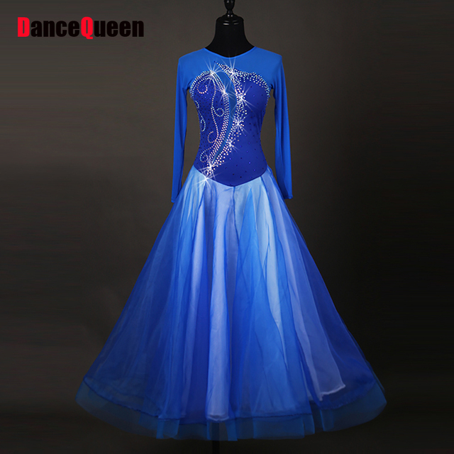 c5a74262a48d 2017 Women Ballroom Dance Dresses Adults Flamenco Skeleton Bodysuit Costume  Modern Waltz Standard Foxtrot Dance Dress DQ11027