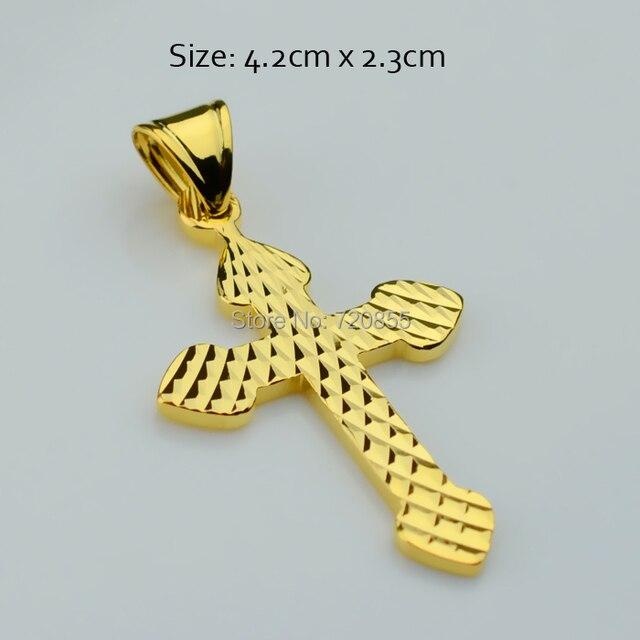 Christian gold cross pendants charm women18k gold plated christian gold cross pendants charm women18k gold plated christianity crucifix trendy fashion jewelry gold aloadofball Images
