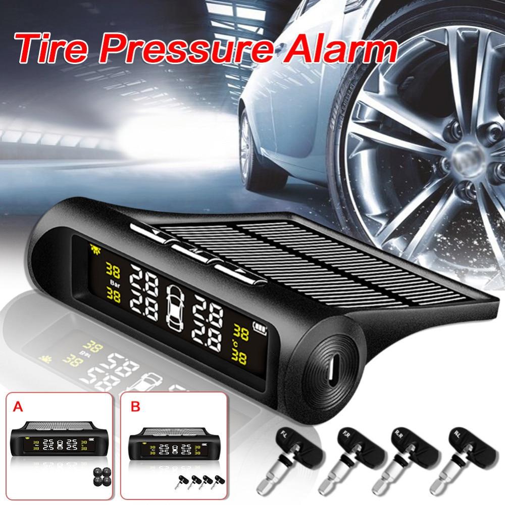Wireless Solar Energy Tire Pressure Monitor Automotive Universal tpms Tire Pressure Detector Alarm