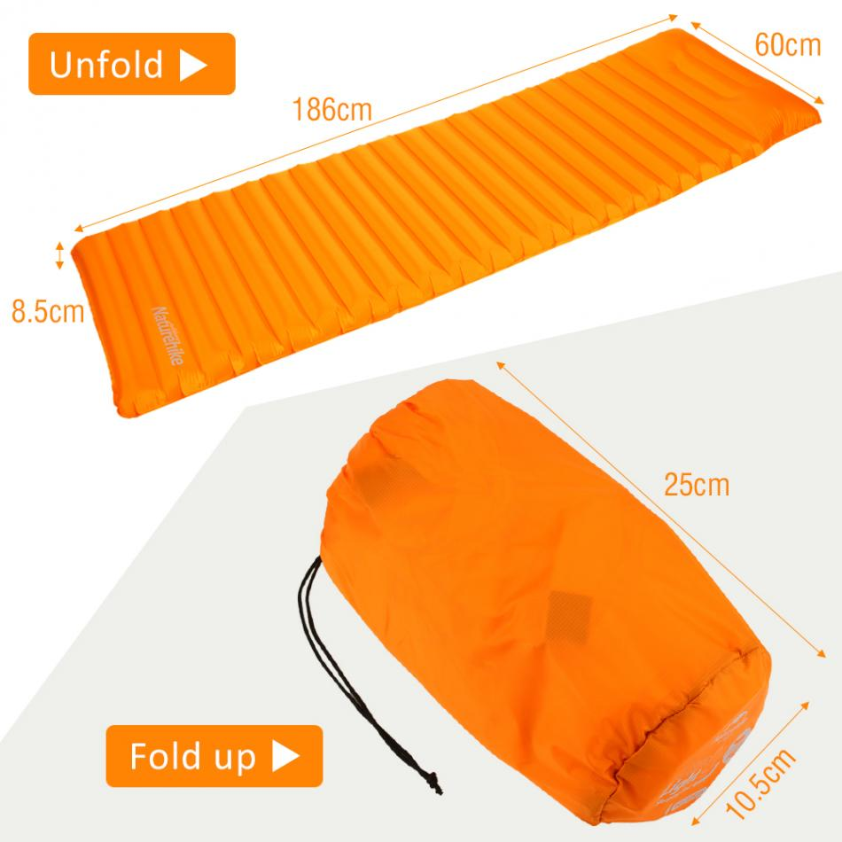 Outdoor Manually Quick Inflatable Camping Mat Ultralight Air Mattress  Moisture-proof Camping Mattress Pad Hiking