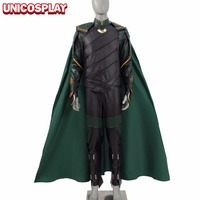 2017 Thor Ragnarok Loki Laufeyson Cosplay Costume Thor 3rd Men Green Armor Suit Halloween Outfit Full
