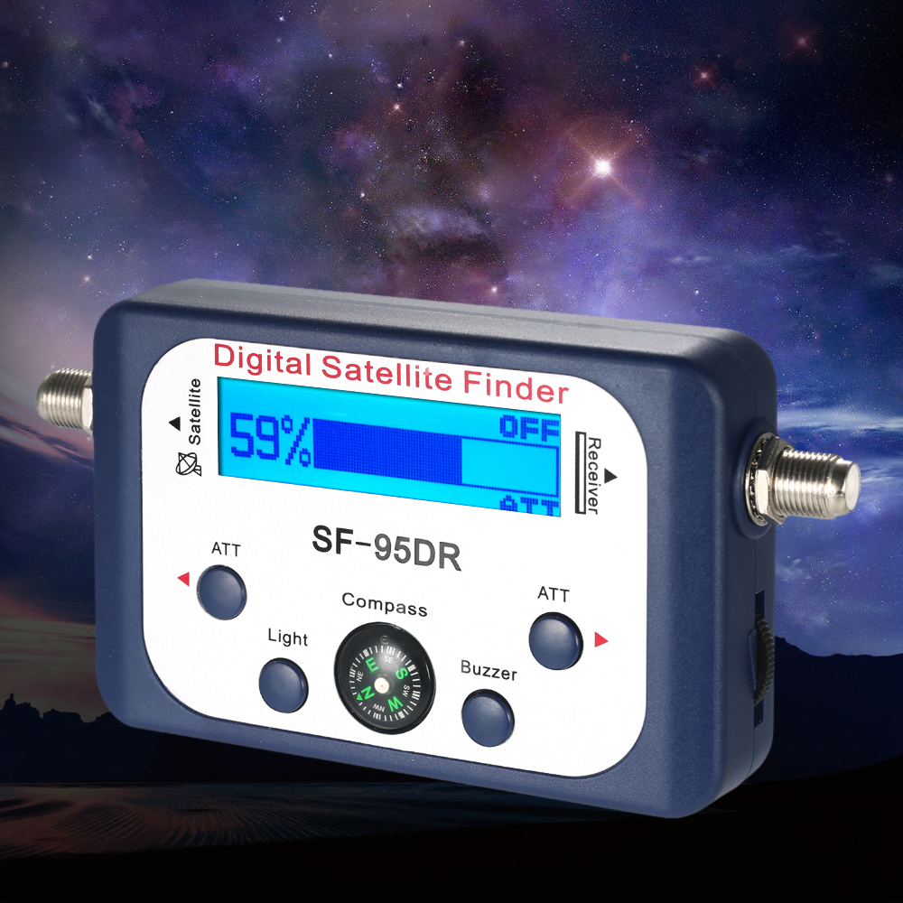 Цифровой спутниковый искатель, измеритель спутникового сигнала с ЖК дисплеем и компасом|Детали и аксессуары для приборов|   | АлиЭкспресс