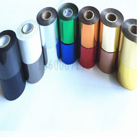 black silver wide 5CM hot foil printer hot stamping foil for heat press machine golden silver red green blue white blue black free shipping (3)