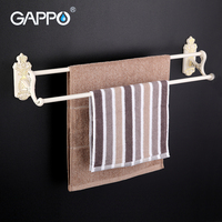 GAPPO 1Set High Quality Wall Mounted 60cm Double Towel Bars Towel Holder Hooks Restroom Towel Rack