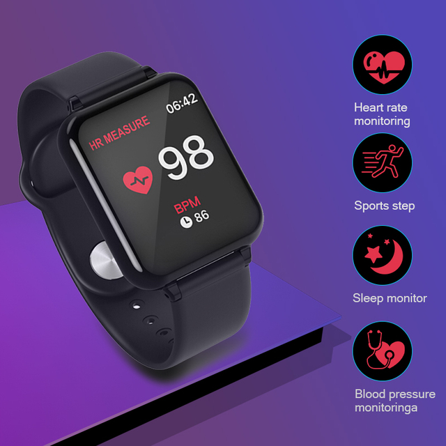 YUEDAER Women Smart Watch Men Watchs Heart Rate Monitor Blood Pressure Fitness Bracelet Sport Smartwatch For iOS Android Band