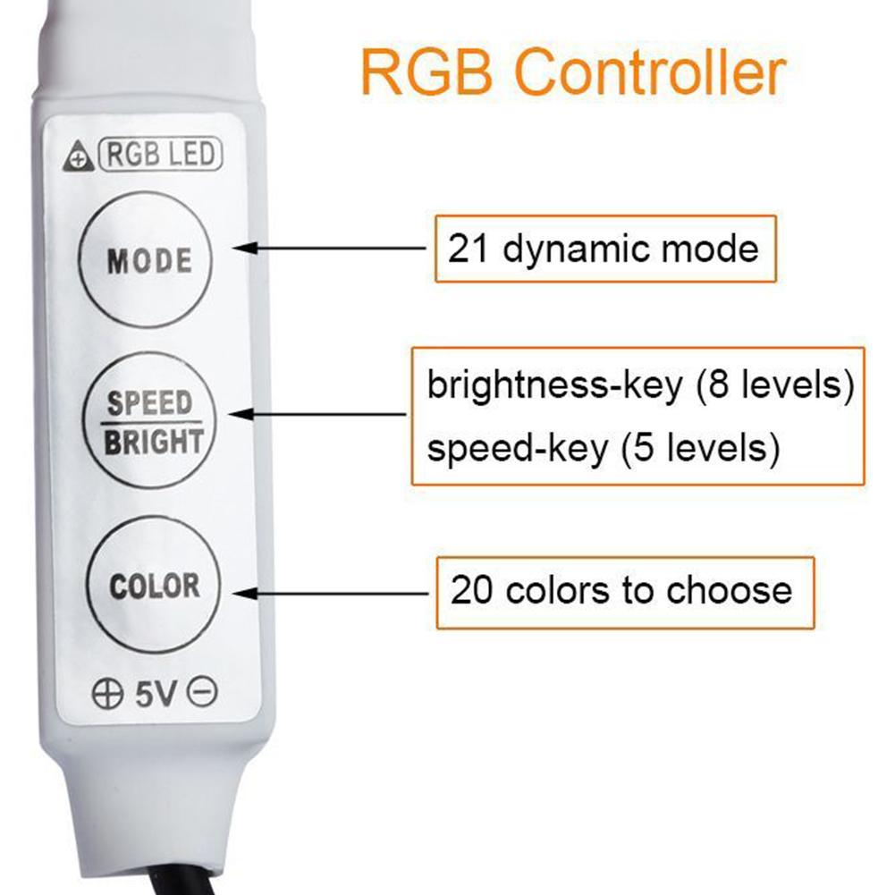 Billiga USB Power LED Strip Highlight RGB Vattentät 3528SMD 5050SMD - LED-belysning - Foto 3
