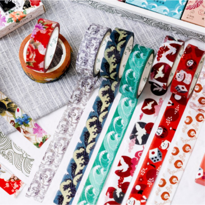Festival Party Theme Washi Tape Japanese Paper DIY Planner Masking Tape Adhesive Tapes Stickers Decorative Craft Tapes 15mm x 7m