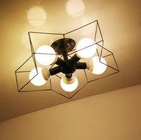 Железная Звезда потолочный светильник творческий Спальня Гостиная исследование украшение дома кафе Белый Черный Лампы для мотоциклов пот