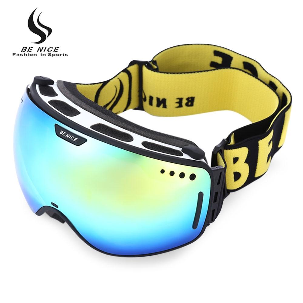 Be Nice Professional Ski Goggles Double Lens UV400 Anti ...
