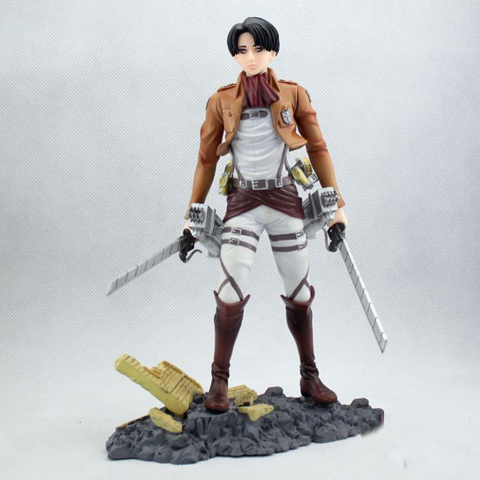Japan Anime Attack On Titan Shingeki no Kyojin Legion Levi PVC Action Figure Model Collection Toys Brinquedos Free Shipping attack on titan anime 17 cm mikasa ackerman battle version pvc anime figure collection doll model toy kids toys pm scene tw18