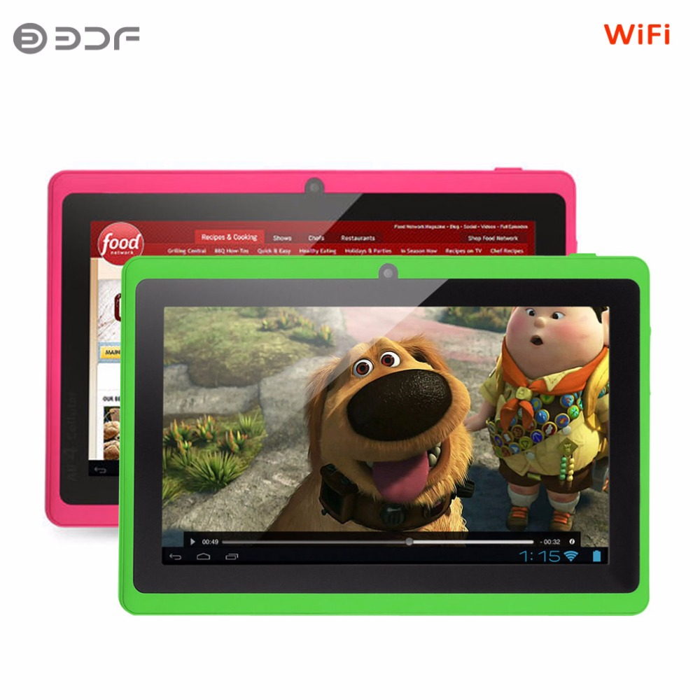 7 Inch Screen Android Tablet Pc 8GB Flash More Color Choice WiFi Bluetooth Quad Core Cheap And Simple 3000Mah Battery цены