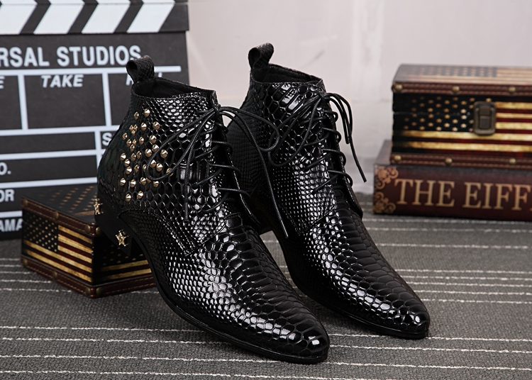aliexpress buy black patent leather high top shoes