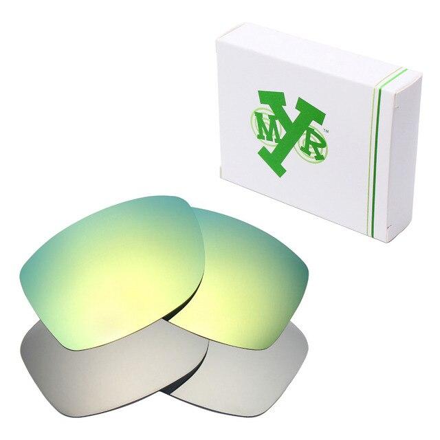 2 Pairs MRY ПОЛЯРИЗОВАННЫХ Сменные Линзы для Oakley Юпитер Squared Солнцезащитные Очки Серебро Титана и 24 К Золото