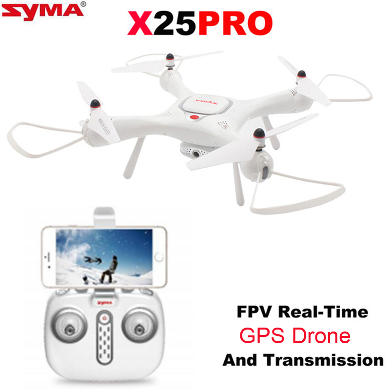 Syma X25PRO RC Drone FPV 720P HD Adjustable Camera Wifi GPS Drone Altitude Hold RC Quadcopter Phone App Control genuine original xiaomi mi drone 4k version hd camera app rc fpv quadcopter camera drone spare parts main body accessories accs