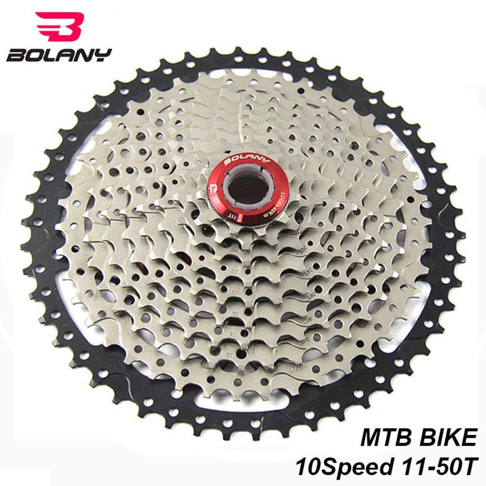 US $47 07 11% OFF|BOLANY Bike MTB Cassette 10 Speed 11 50T Freewheel  Sprocket Gear Ratio Flywheel For Mountain Bicycle Parts Compatible  Shimano-in