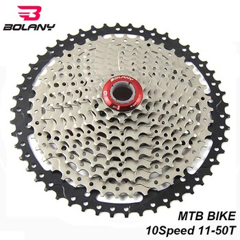 BOLANY Bike MTB Cassette 10 Speed 11-50T Freewheel Sprocket Gear Ratio Flywheel For Mountain Bicycle Parts Compatible Shimano