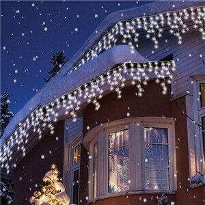 Image 3 - FGHGF אורות חג המולד חיצוני קישוט 5 m לצנוח 0.4 0.6 m Led וילון נטיף קרח מחרוזת אורות גן חג המולד המפלגה אורות דקורטיביים
