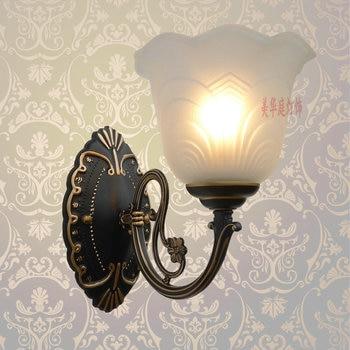 A1 European style black iron wall lamps mirror lamp bedside lamp antifogging lamp simple bathroom energy-saving LED FG353