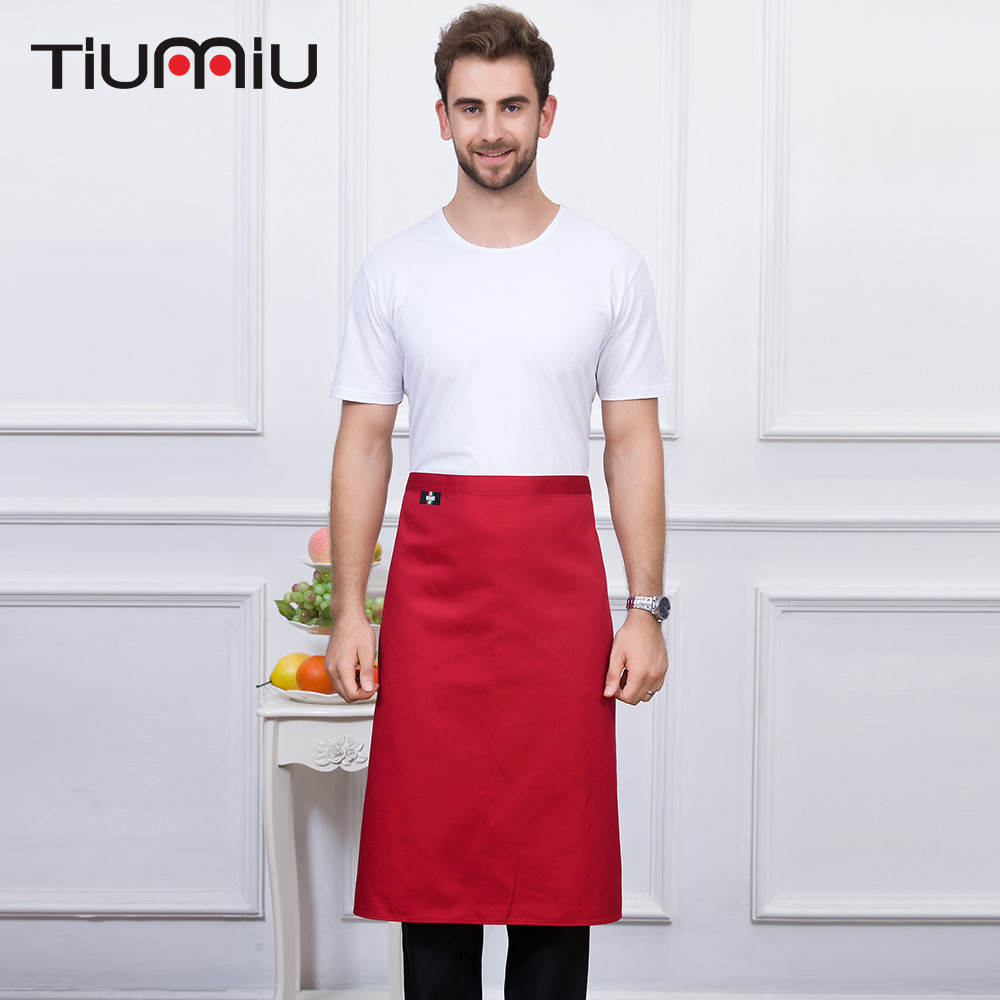 4 Colors High Quality Wholesale One Piece Of Apron Unisex Kitchen Hotel Coffee Shop Bakery Chef Waiter Cleaning Work Wear Aprons