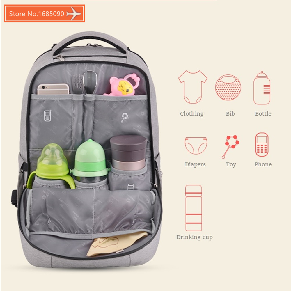 Salient Maternity Backpack Diaper Bag Mommy Baby Changing Nappy Bags Baby Strollerwaterproof Bag Travel Backpack Bolso Diaper Bags From Mor Maternity Backpack Diaper Bag Mommy Baby Changing Nappy Bags baby Backpack Diaper Bag