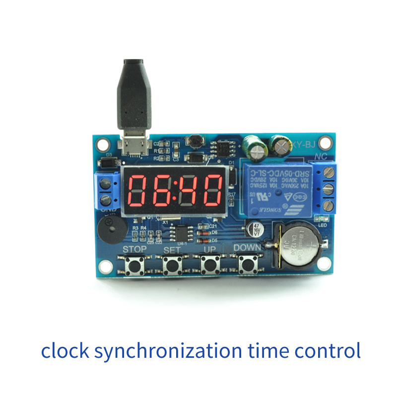 12V Cycle Delay Module Cycle Relay Switch Relay Module 24H Timing Chip Control New clock synchronization time control delay