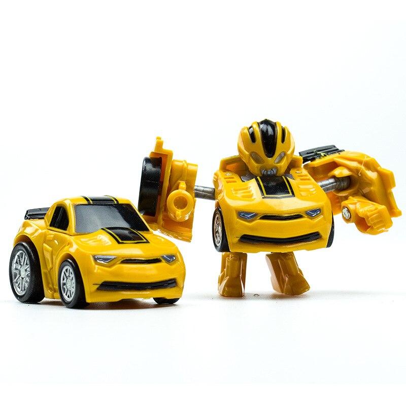 Mini Robot bil Transformation Robots Bilmodell Klassiska pojkar - Toy figuriner - Foto 5