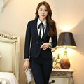 New Arrival Career Work Suits 2016 Professionan Formal Uniform Deisgn Female Pantsuits With Blazer + Pants Ladies Trousers Sets
