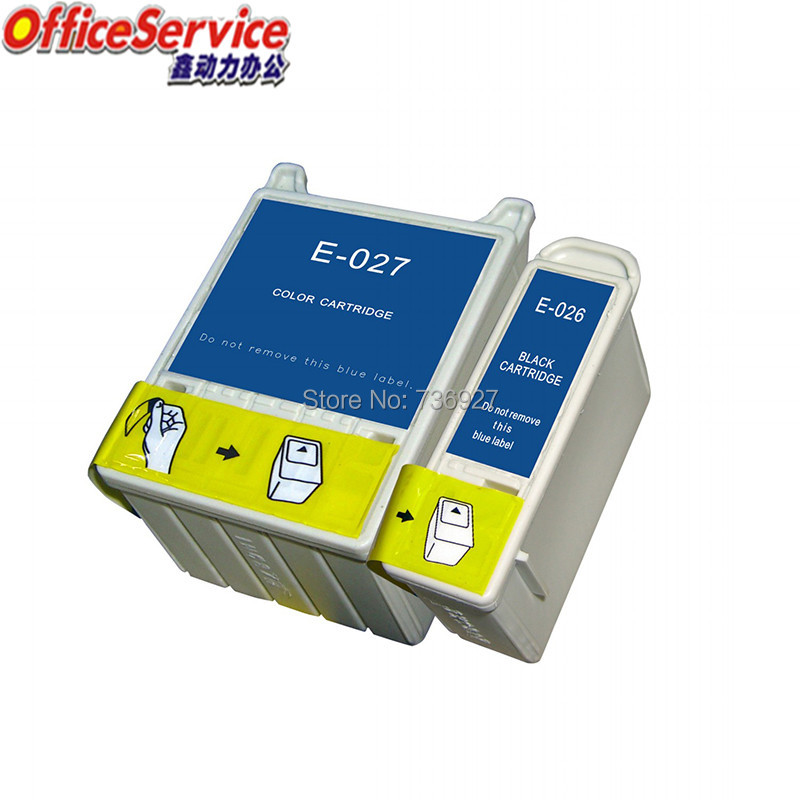 T026 T027 Compatible Ink Cartridges  For Epson  Stylus C50  Stylus Photo 810 820 830 830U 925 935 inkjet printer