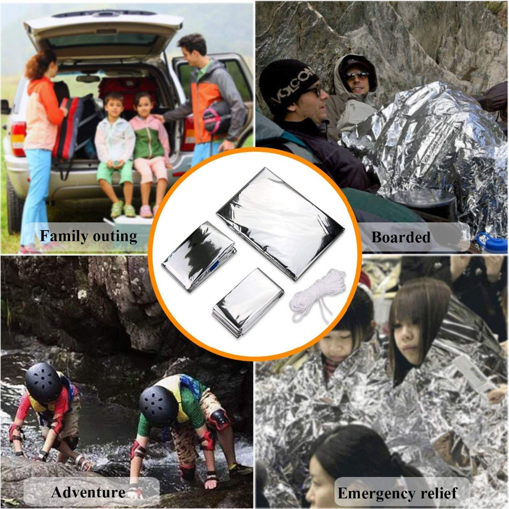 Survival kit set military outdoor travel mini camping tools aid kit emergency multifunct survive Wristband whistle blanket knife (12)