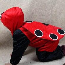 Moda de halloween traje del año nuevo para los niños mariquita disfraz infantil traje de niño de los animales(China (Mainland))