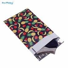 Хорошее 100 шт. 15×23 см 6×9 дюймов фрукты дизайн Поли Конверты Самостоятельная Seal Пластик конверт Сумки
