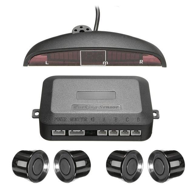 Car Assistant 4 Parking Sensor Car Reverse Backup Rear Radar System With LED Monitor Display Sound Alert Alarm