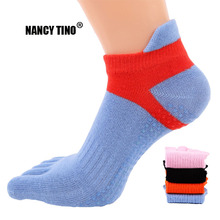 NANCY TINO Women Yoga Socks Quick-Dry Anti-slip Five Fingers Damping Non-slip 5 Toe Ballet Gym Fitness Sports Cotton