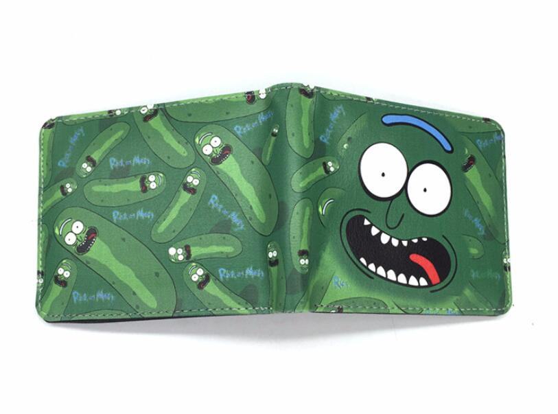 2018 Pickle Rick and Morty Printing Short Wallet PU Purse Holder Layers Handbag rick and morty pu faux leather bifold wallet dft 10049