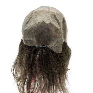 Image 5 - 女性の髪トッパーフルキャップかつら人格カスタマイズ皮膚ベース髪のかつらの男性