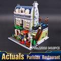 2016 Nueva LEPIN 15010 2418 Unids Creador Ciudad Calle Restaurante Parisino Modelo Kit de Construcción de Bloques de Ladrillos de Juguete de Regalo 10243