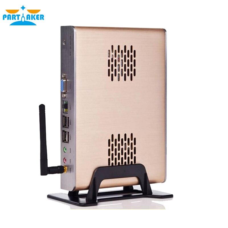 Barato Intel C1037U Celeron Dual-core 1.8 GHz Sin Ventilador HTPC Mini PC con 2G