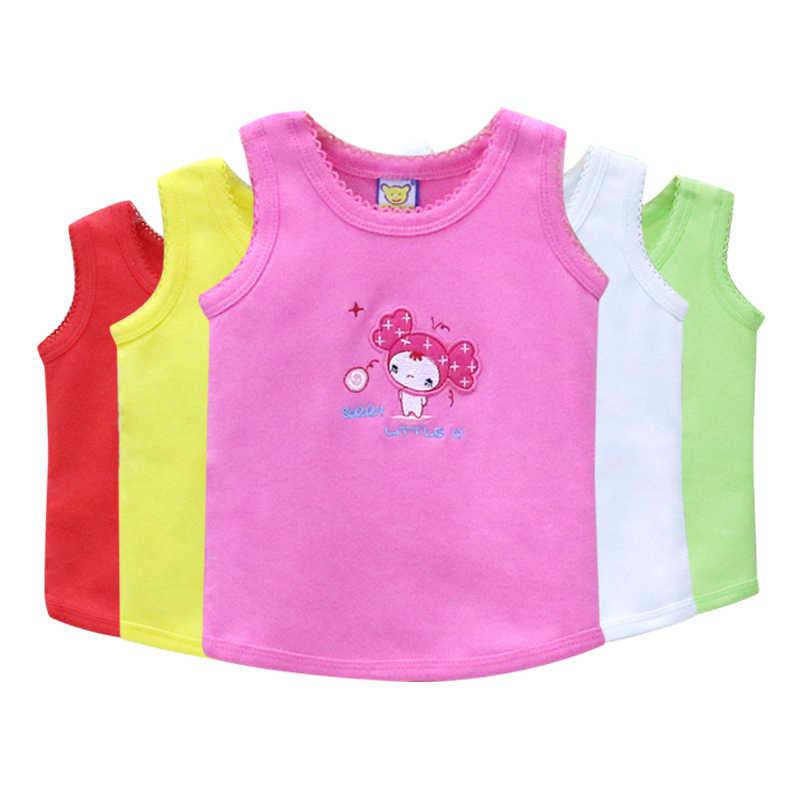 Children 5 Pieces/lot Sleeveless Shirts Boys and Girls Clothes Kids 100% Cotton Summer and Autumn Suits kids underwear tops