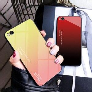 Image 3 - Funda de cristal templado para Xiaomi Mi 5S, funda protectora trasera con degradado de lujo para xiaomi mi 5s mi5s