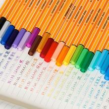 Stabilo 25 adet Nokta 88 Kalem Seti Cüzdan Seti Liner Fiber Kalemler Kroki Işaretleyici Renk Çizim Manga Öğrenci Okul Sanat malzemeleri